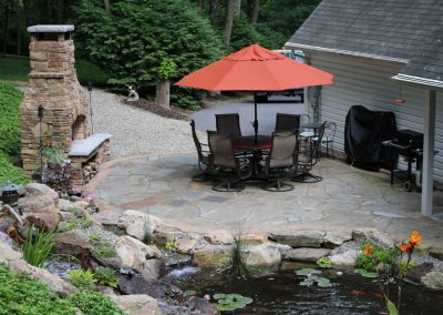 Natural Stone Patio & Fireplace